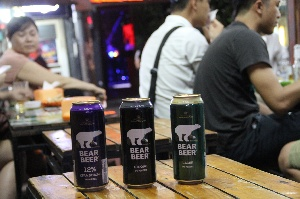 BEAR BEER IN HA NOI OLD QUARTER